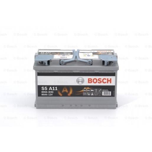 0092S5A110 BATERIE START-STOP AGM BOSCH S5 A11 12V 80AH 800A 315X175X190 +DR