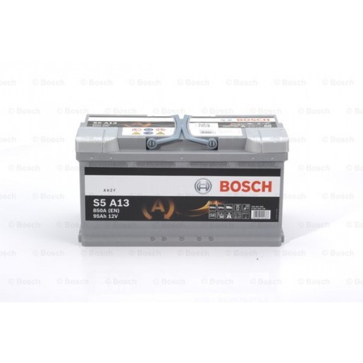 0092S5A130 BATERIE BOSCH S5A AGM 12V 95AH 850A 175X353X190  +DR