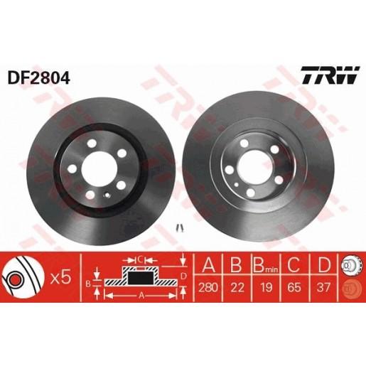 DISC FRANA  - TRW DF2804
